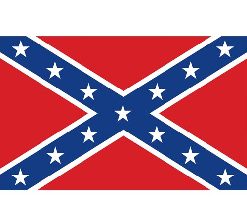 Confederate Civil War Rebel Flag - Click Image to Close