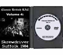 DVD90 - Classic British RAC Volume IV, Skrewdriver - Click Image to Close