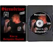 ISD01-DVD - Skrewdriver Live in Derbyshire