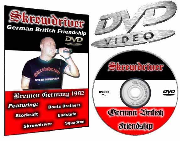 Skrewdriver Brenmen 1992 German british Friendship DVD