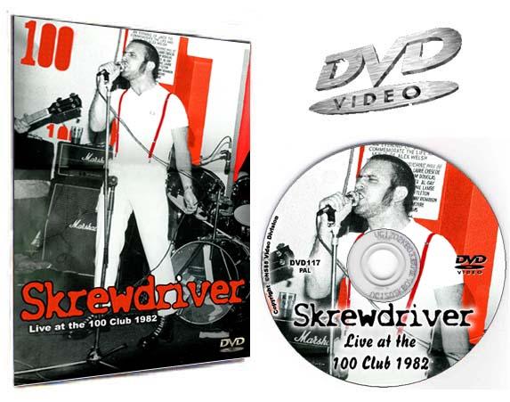 Skrewdriver 100 Club DVD Video