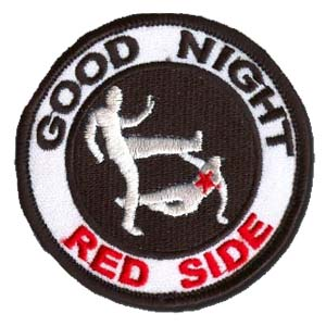 Good Night Red Side Patch