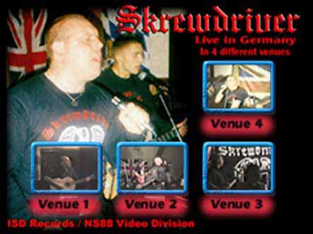 skrewdriver 4 venues menu