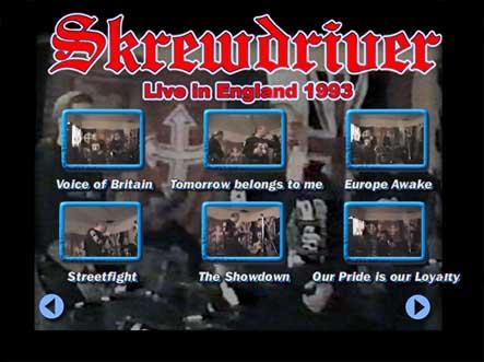 skrewdriver in the studio sub menu