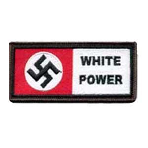 White Power Swastika Patch