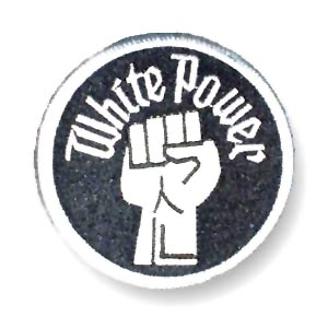 White Power Fist Patch